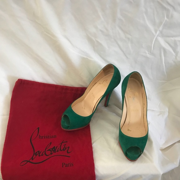 1664b888ae01 Christian Louboutin Shoes - Authentic Christian Louboutin Sued Lather Shoes